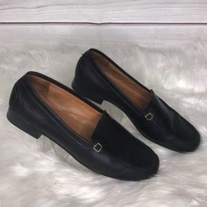 Celine Black Leather Loafers 10B
